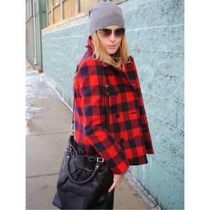 Gap Buffalo Check Pea Coat